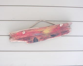 acrylic painting on Driftwood N6