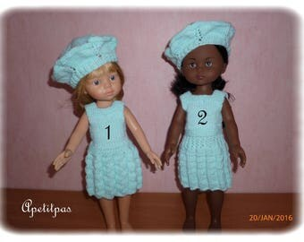 Dress and beret for doll Corolla ref honey: 17131924