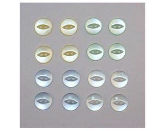80 x basic buttons 11 mm 2 holes: 4 colors set F - 000806