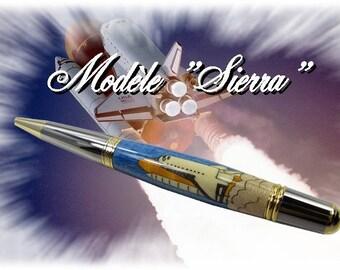 "Ballpoint pen in the ""Sierra"" range, inlaid wood"