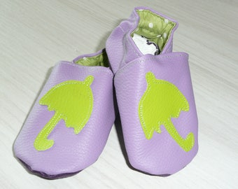 Shoes size 21 applied purple umbrella