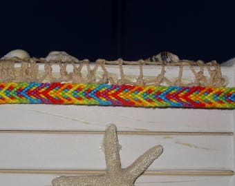 """Rainbow Comet"" Friendship Bracelet"