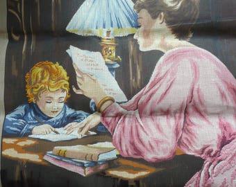 A large CANEVAS to end embroidery ( 1ère dictée)  création Margot de Paris