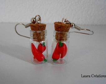 Spice jar earring