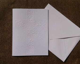 CROSS embossed greeting cards (set of 10 cards)