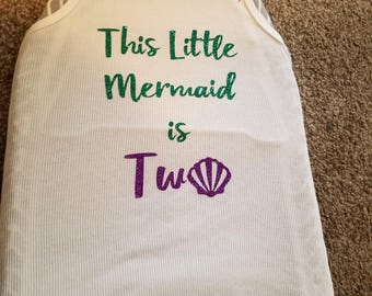 This little mermaid is...
