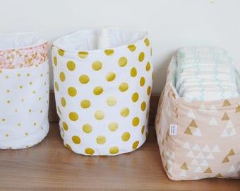 TRIO set two round & Organizer baskets diaper ❤️