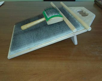 Blending board for spinning, felting and making rolags