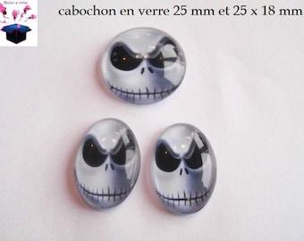 1 cabochon 25 mm / 2 cabochons 25 x 18 mm jack theme