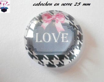 1 cabochon clear 25 mm chichi theme