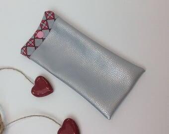 Faux silver EYEGLASSES holder