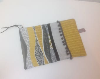 patchwork large clutch PLATE