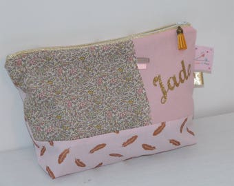 Kit toilet liberty Katie and Millie nude, custom name pink and gold