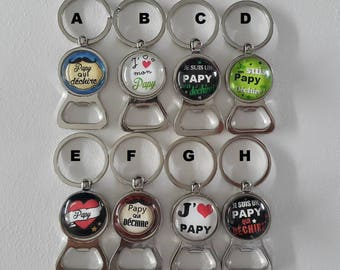 key ring bottle opener for the Grandpa by lolaclarabijoux