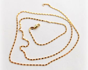 Fancy gold plated 2 mm 18 K 75 cm chain