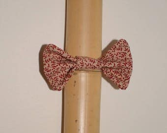 Elastic with Tan branches hair bow Red