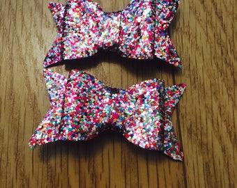 Rainbow pieces mini bows