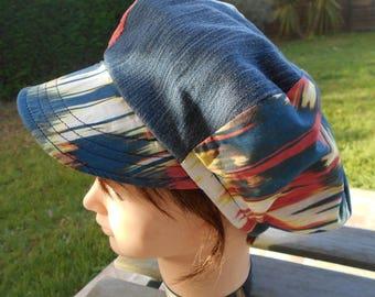 cotton and denim newsboy cap / women Cap / Hat