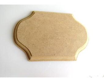 X 1 plate holder, molded edge