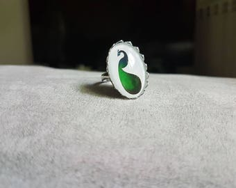 adjustable Peacock ring
