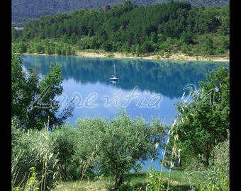 Photo 30X40cm sailboat on Lake St. Croix at Verdon