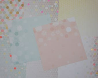 Assorted paper scrapbooking shapes, neon