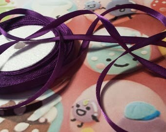 1 meter of 12mm purple satin ribbon