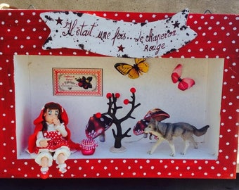 """Vintage """"the little Red Riding Hood"""" fully realize THAs in cold porcelain"""