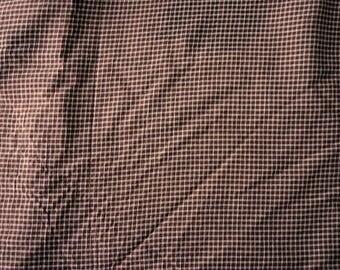 Coupon tissu habillement viscose carreaux Tissu fluide et léger pour création textile tendance