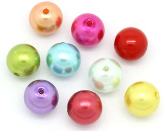 10 mixed beads spacer pattern 14mm round