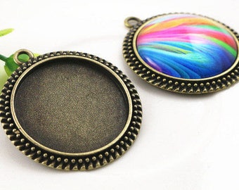 30 MM/5 for cabochon pendant backings
