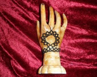 display jewelry, porcelain, personalized with tatting bracelet