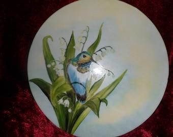 plate holder or villa customizable bird motif plate