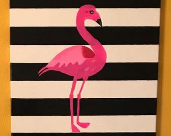 Pink Flamingo Wall Art -Single-