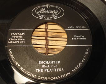The Platters 45 RPM Record - Enchanted B/W The Sound And The Fury - Mercury Records - 1959