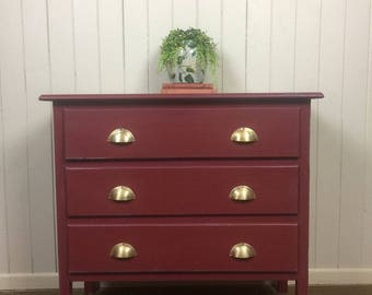 Vintage Rustic Farmhouse Chest of Drawers