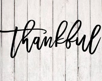 Thankful SVG| Thankful svg Design | Monogram svg Files | Silhouette Files | Cricut Files | SVG Cut Files | PNG Files