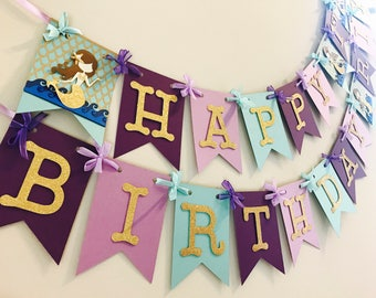 Under the sea Birthday, mermaid birthday, under the sea, under the sea decor, under the sea banner, mermaid banner, under the sea party deco