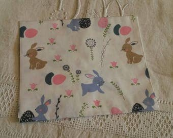 "Embroidery 40 X 50 cm / kids fabric / pattern ""rabbits"""