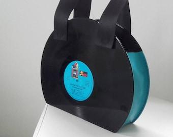 Vintage vinyl handbag