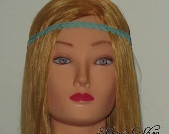 Turquoise lace headband
