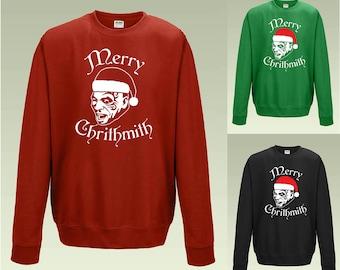 Mike Tyson Merry Chrithmath Sweatshirt JH030 Funny Christmas Jumper Sweater