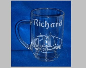 1 mug of beer 60cl engraved decoration and inscriptions to choose