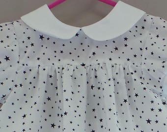 set of 18 months white bloomer and blouse