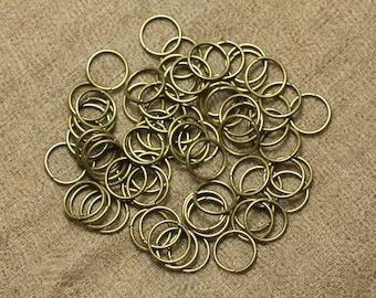 100pc - rings 10 mm Bronze Metal Nickel 4558550025654