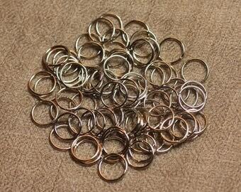 500pc - rings 10 mm silver Metal Nickel 4558550027771