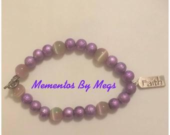 "Purple ""Faith"" Bracelet"