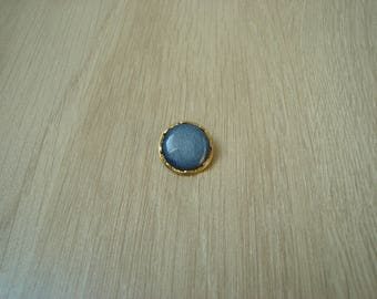 button tail two tone blue and gold vintage