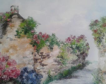 Alley Bretagne in Brittany realized on Al oil knife