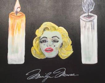 Crying Marilyn Monroe - Modern Acrylic Canvas Painting